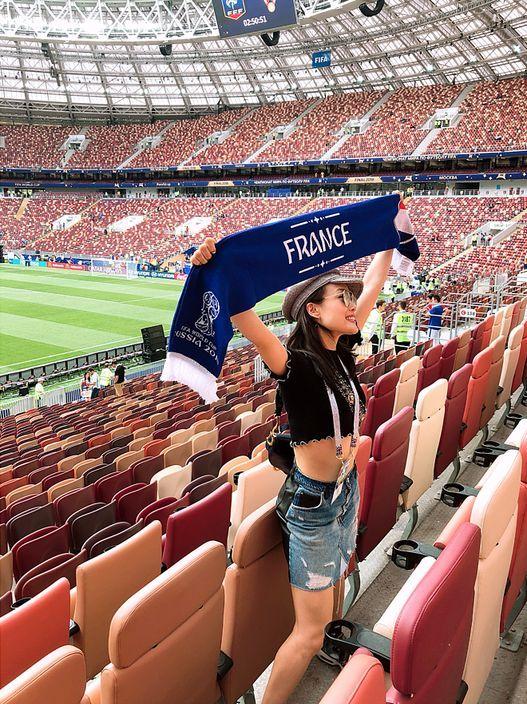 容祖兒阿Sa見證法國捧盃