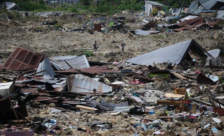 土壤液化淹沒大量房屋 料有5,000人失蹤