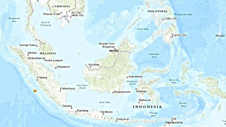 印尼蘇門答臘外海發生6.1級地震