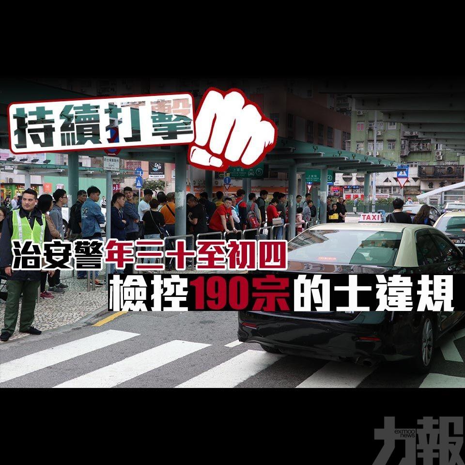 【持續打擊】治安警年三十至初四檢控190宗的士違規
