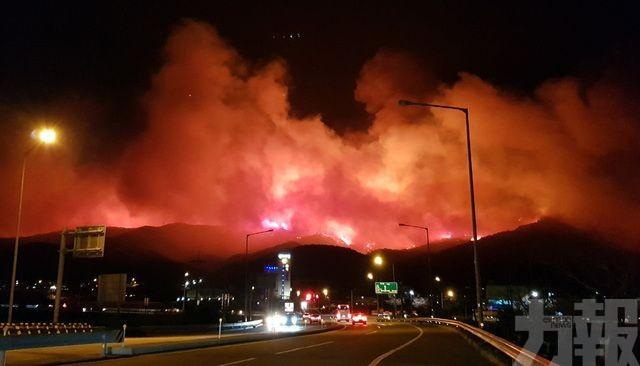 韓國江原道高城郡嚴重山火 1死11傷