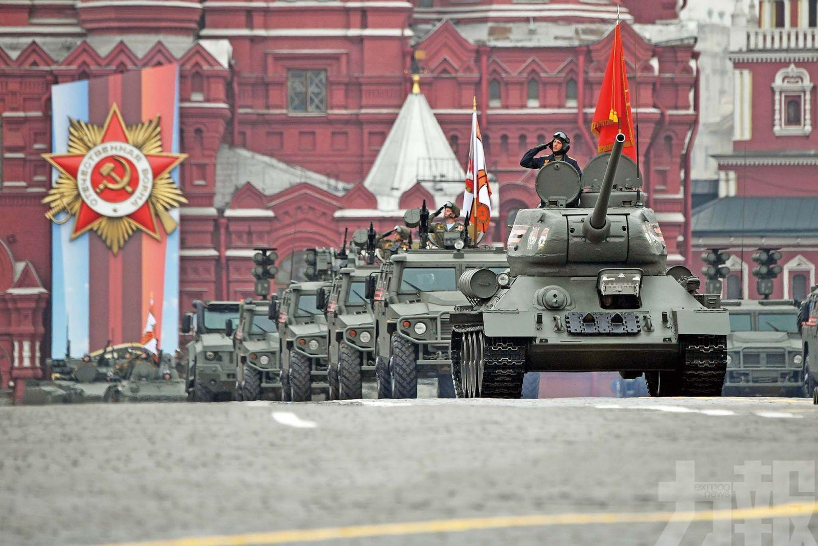 俄紅場閱兵展軍威