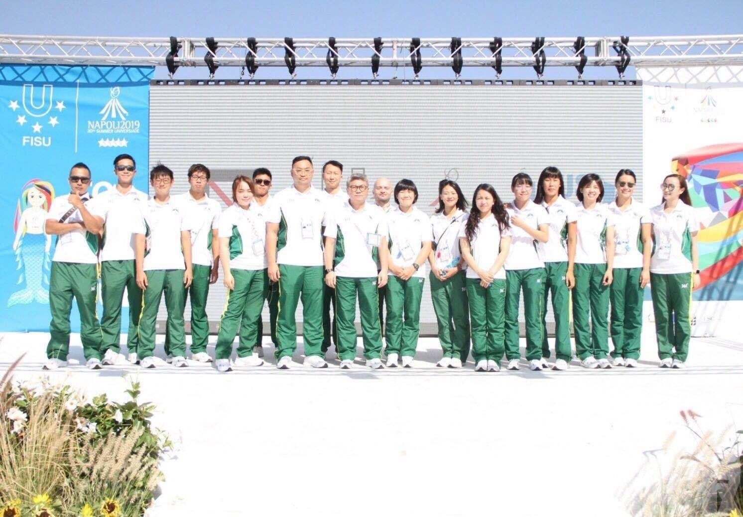 澳門代表團進駐運動員村升旗