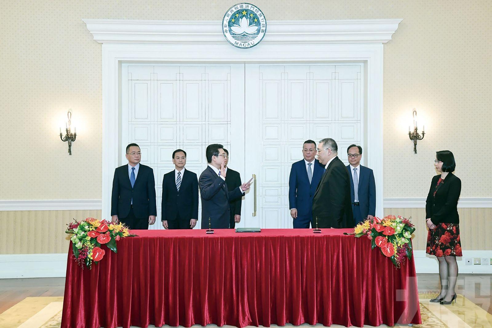 立法會選舉管理委員會成員就職