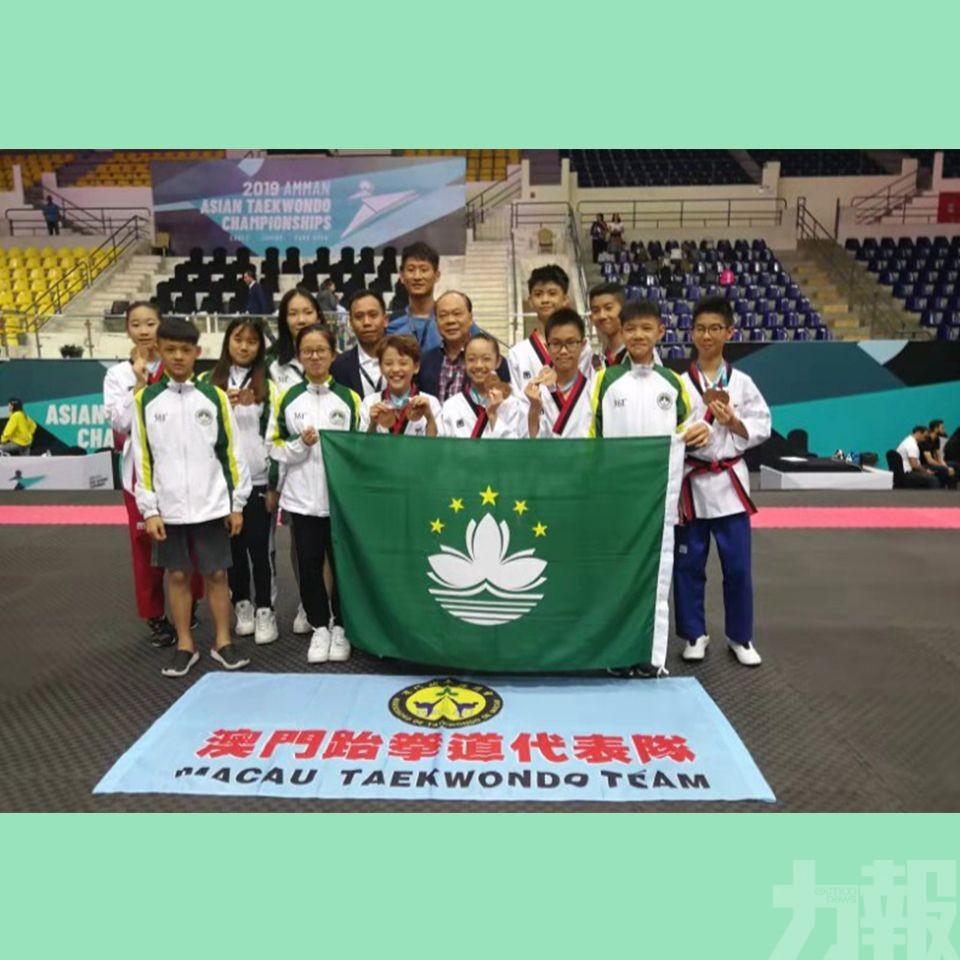 跆拳道小將亞洲品勢賽摘5銅牌