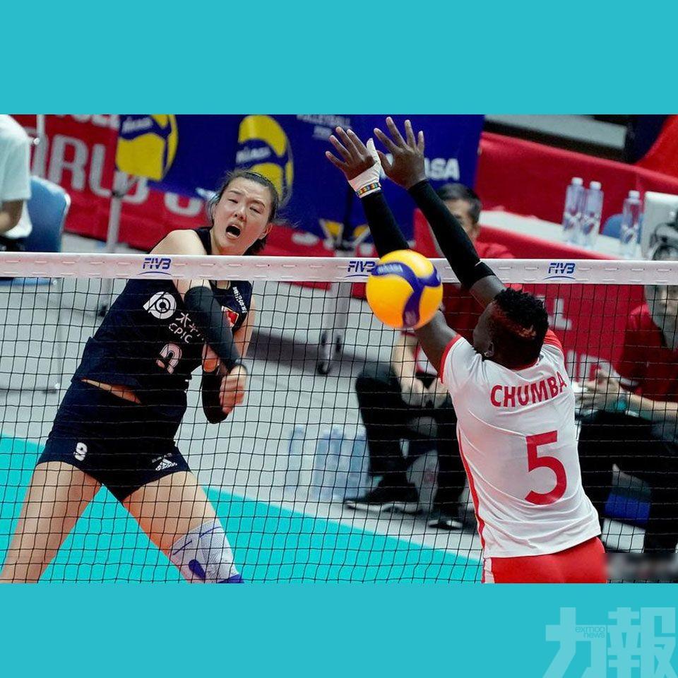 中國女排世界盃8戰8勝