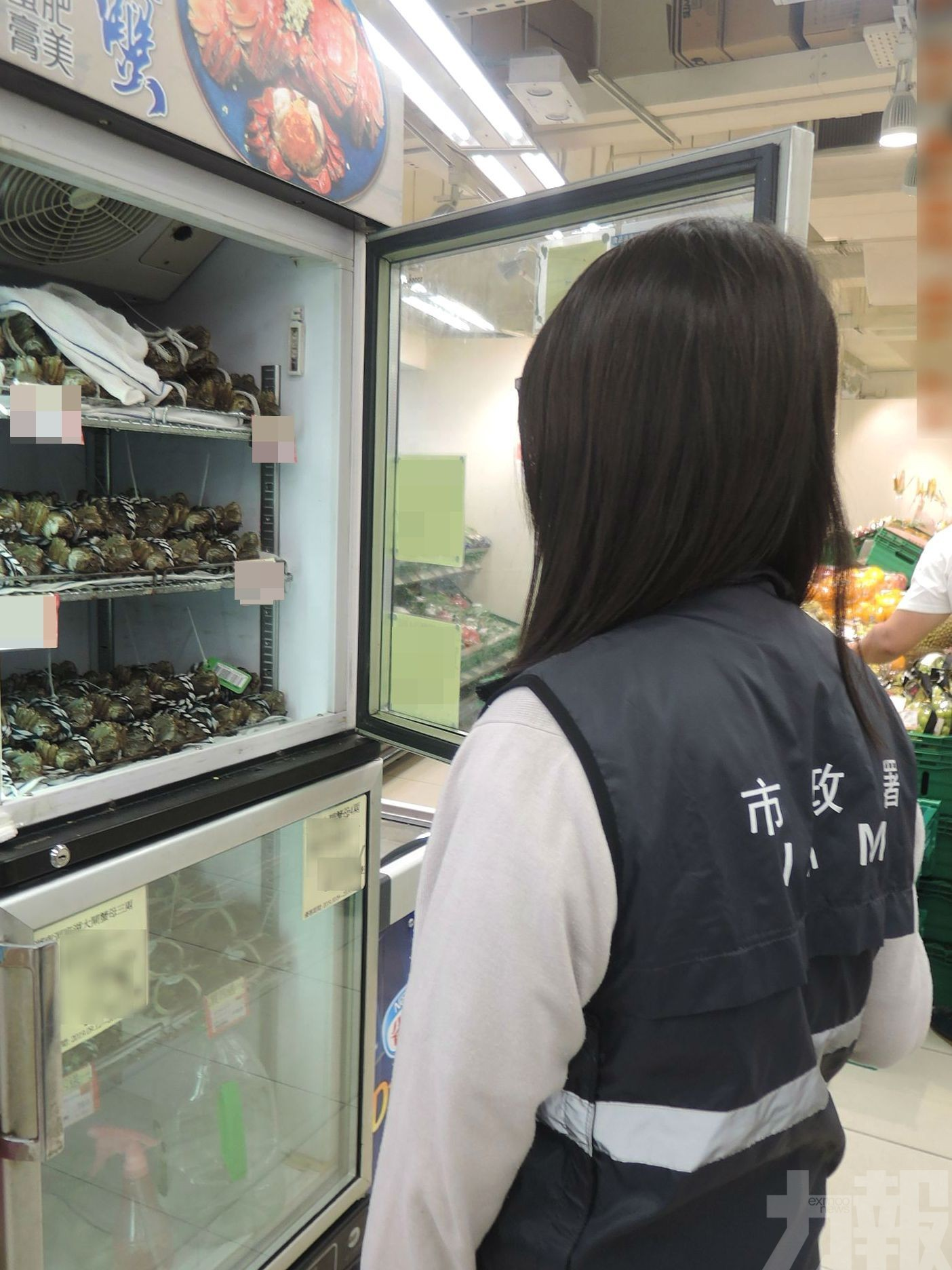 市政署扣押外賣店35公斤未檢疫大閘蟹
