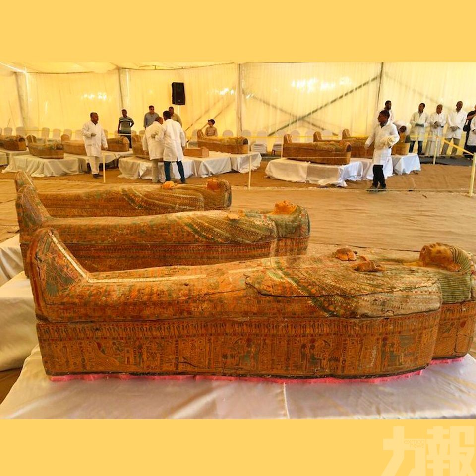埃及出土30具近3千年古棺