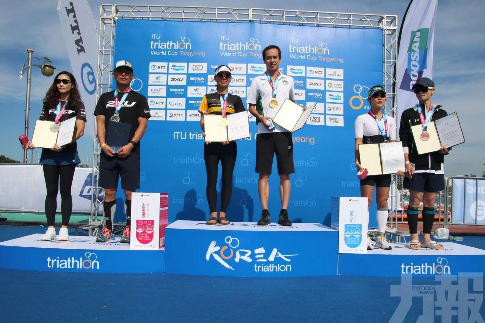 趙詠俊揚威韓國三鐵世界盃