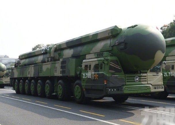 傳中國上周試射「東風-41」最新版