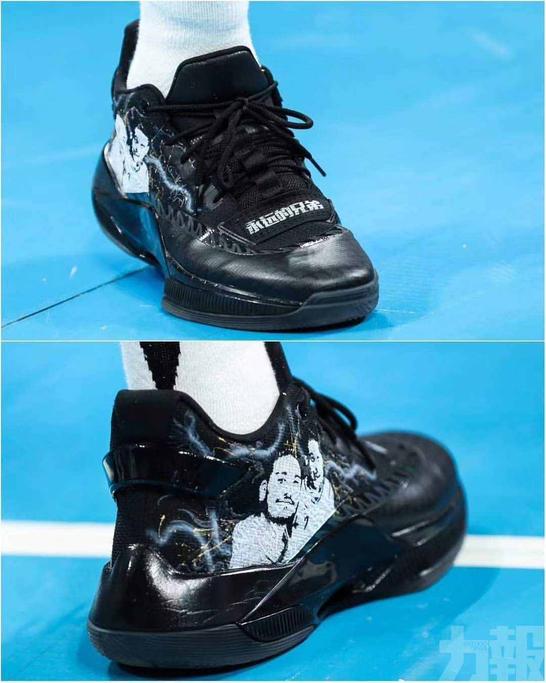 林書豪戰靴印合照悼念波友