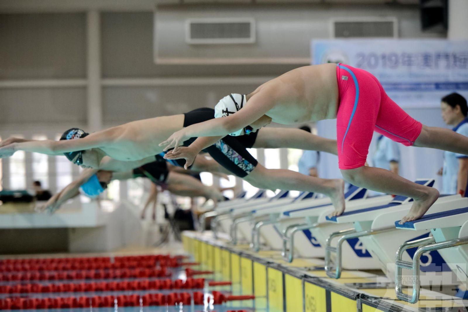 松森綠波分摘短池泳賽男女團錦標