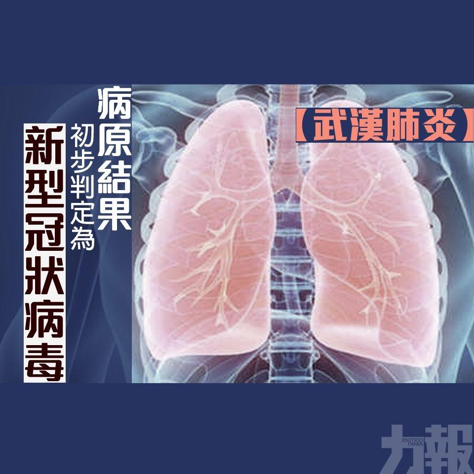 【武漢肺炎】病原結果初步判定為新型冠狀病毒