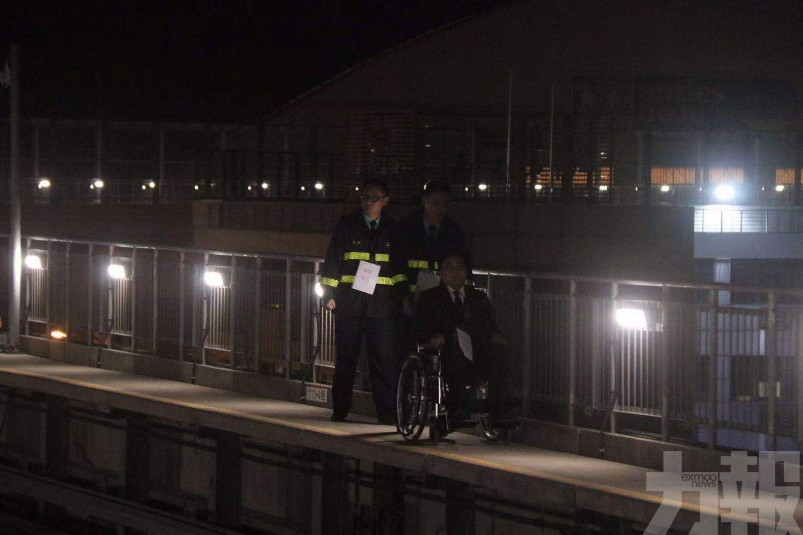 消防聯同輕軌公司進行開通後首次演練