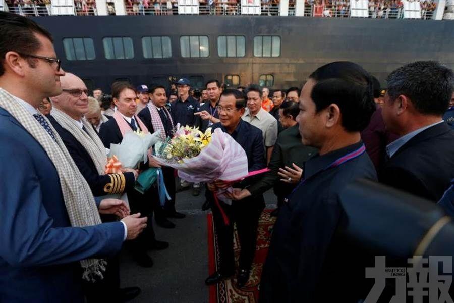 柬埔寨總理洪森親自迎接