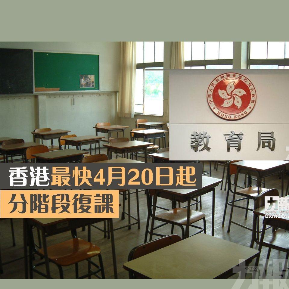 香港最快4月20日起分階段復課