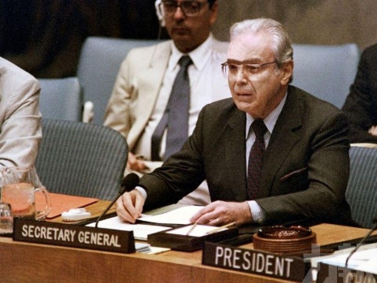 聯合國前任秘書長德奎利亞爾逝世