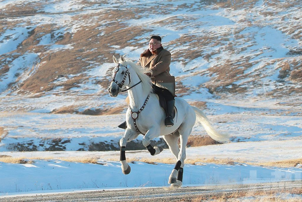 傳金正恩騎馬玩樂