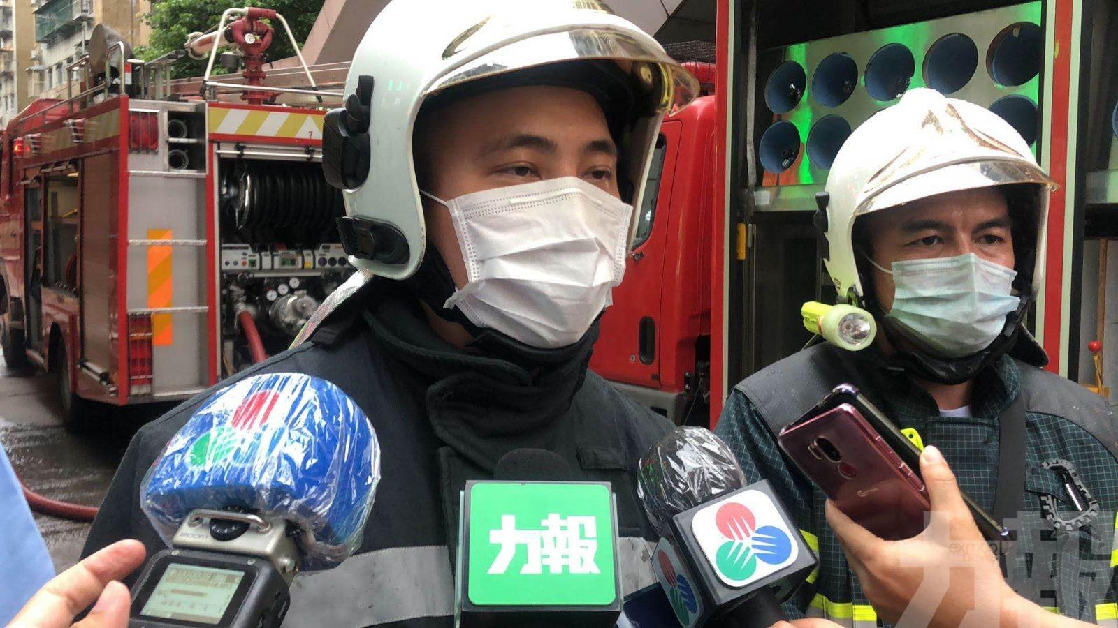 起火單位40平方米 約55人疏散