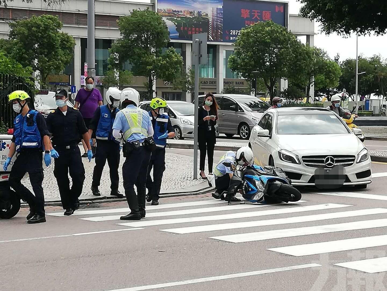 電單車男司機受傷送院