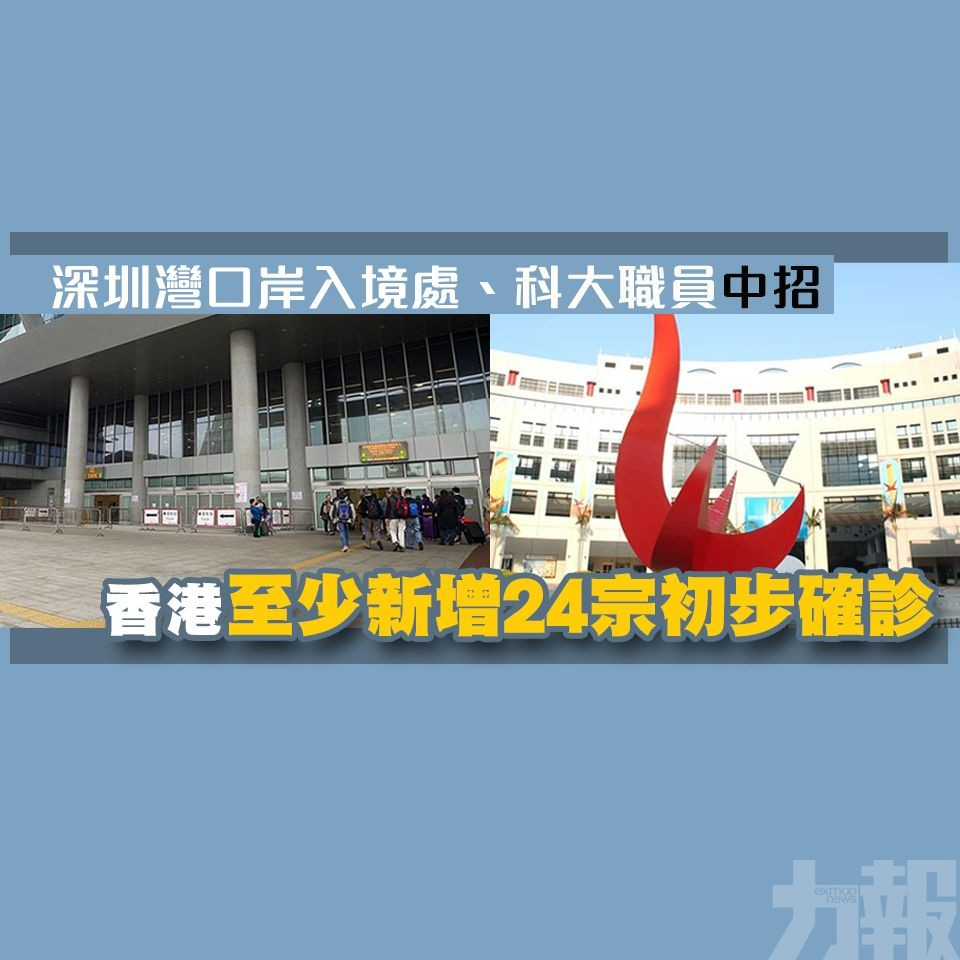香港至少新增24宗初步確診