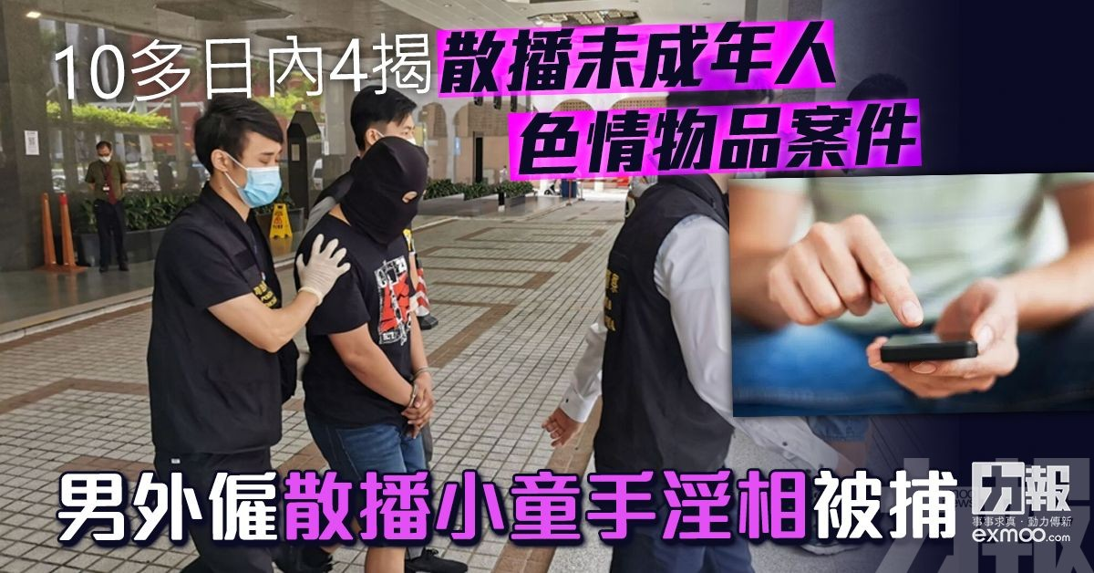 男外僱散播小童手淫相被捕