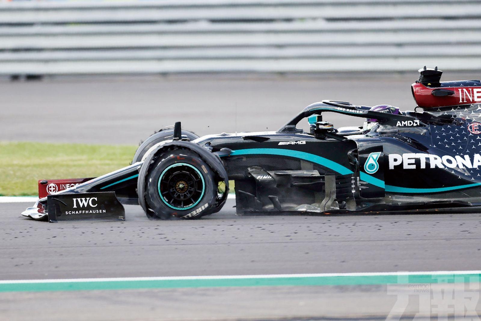 咸美頓最後半圈爆胎一額汗贏F1英國站