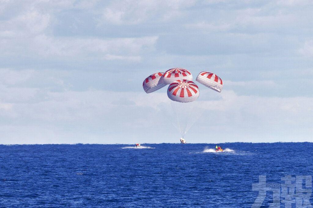 SpaceX龍飛船成功返地球