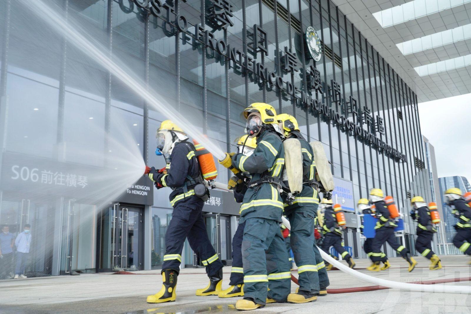 珠澳跨境消防今聯合演練