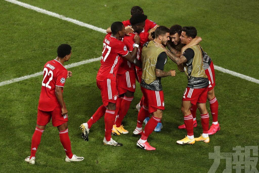 拜仁第6次捧歐聯兼成為3冠王