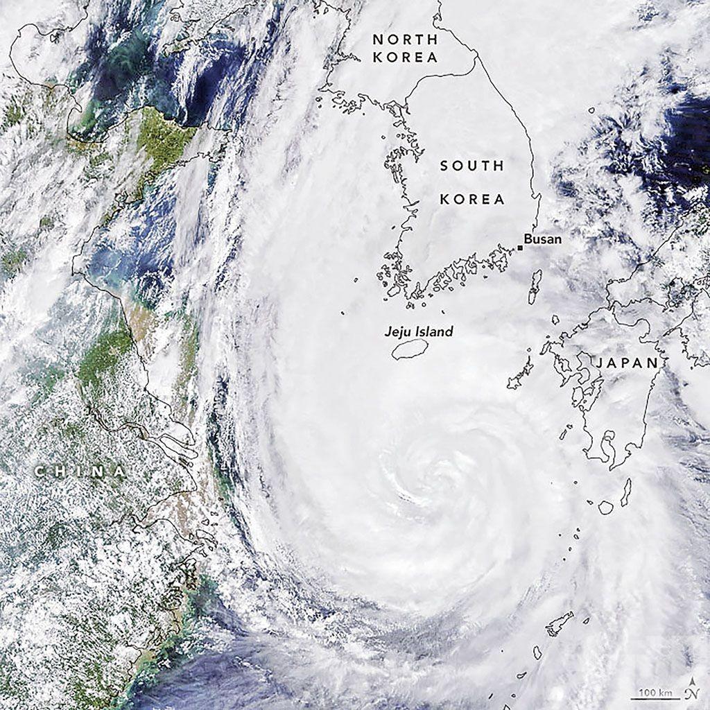雙颱接力襲韓朝