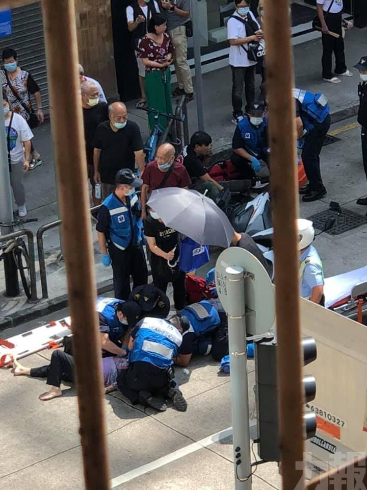 73歲女長者被電單車撞倒重傷