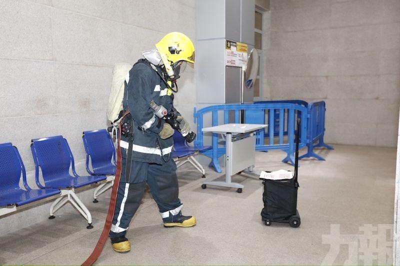 關閘邊檢大樓舉行火警演習