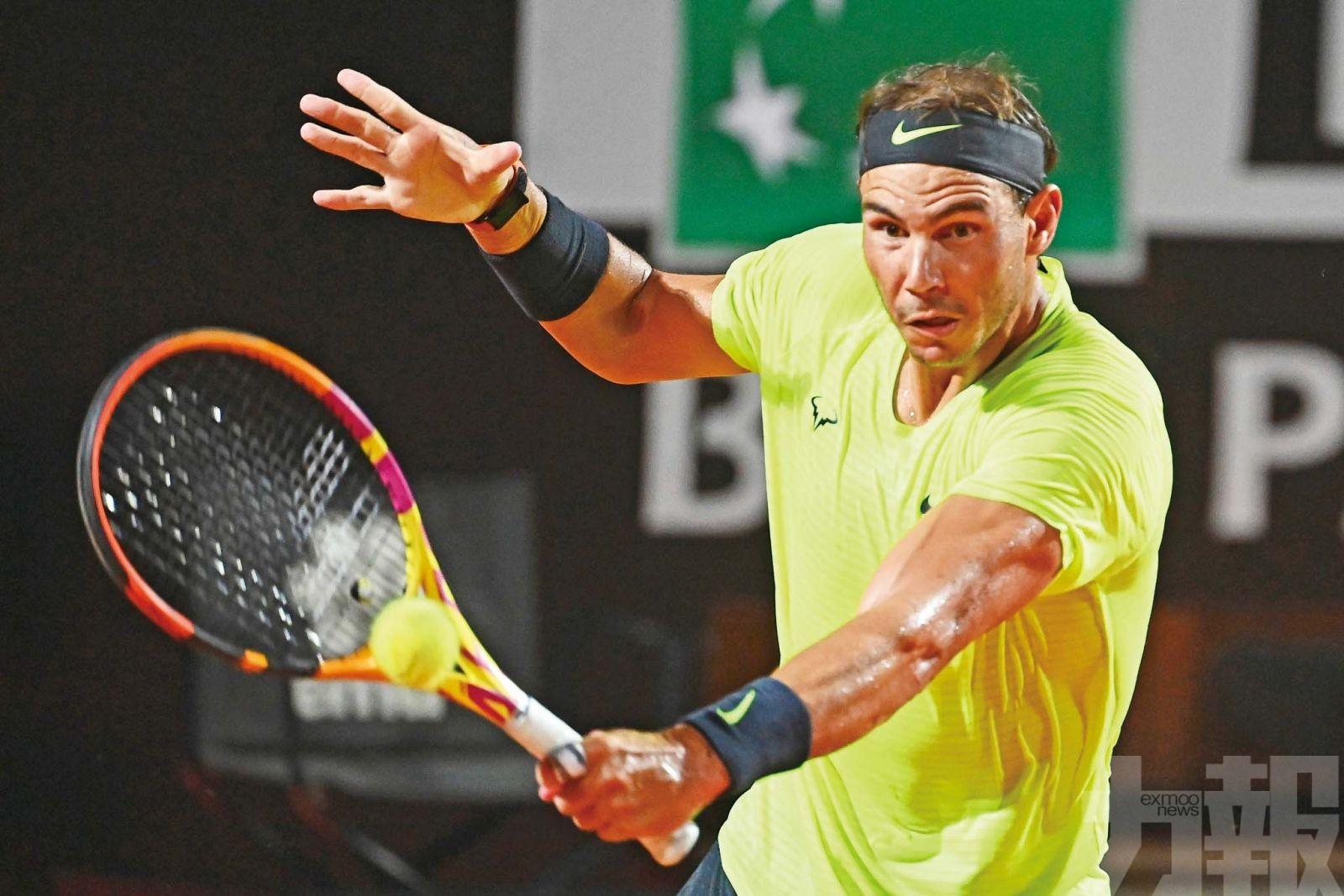 拿度羅馬網球大師賽8強受挫出局