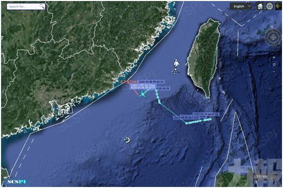 距廣東沿海僅約47海里