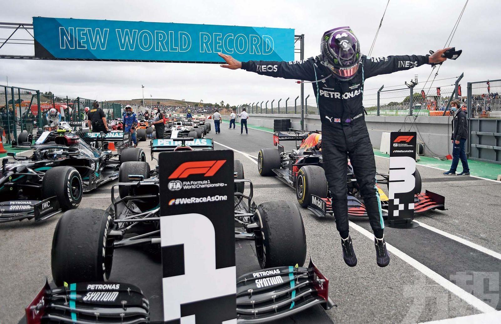 咸美頓F1創92個分站冠軍紀錄