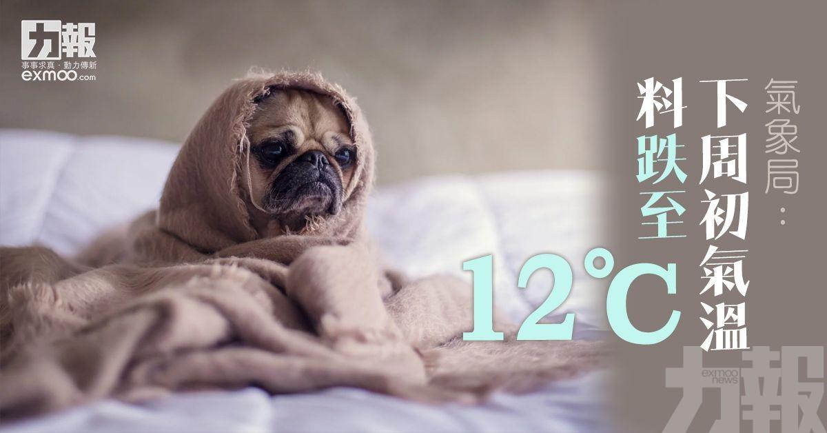 氣象局:下周初氣溫料跌至12℃