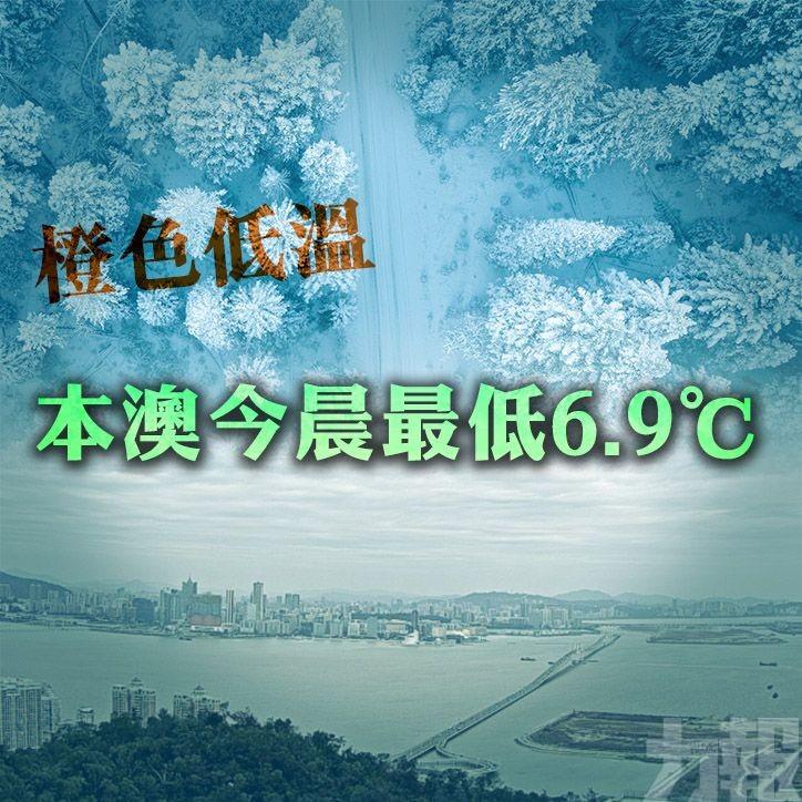 【橙色低溫】本澳今晨最低6.9℃