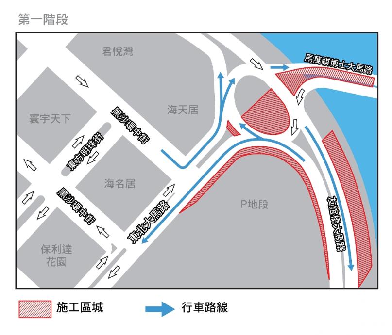 周邊道路3月1日起實施有限度通車