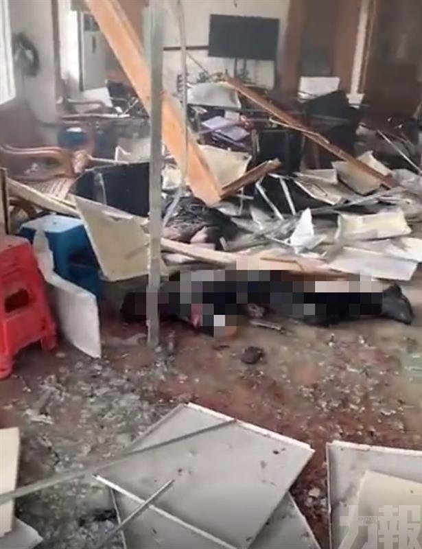 廣州番禺明經村發生爆炸