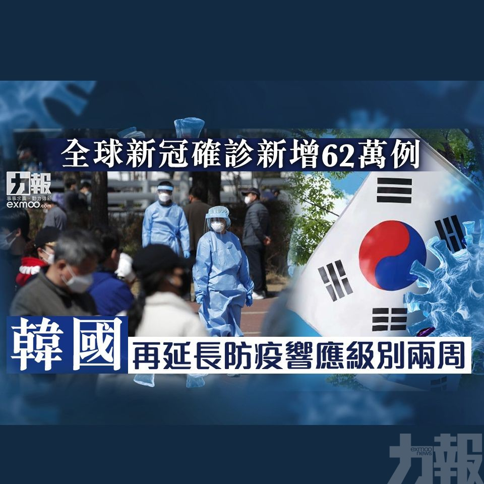 韓國再延長防疫響應級別兩周