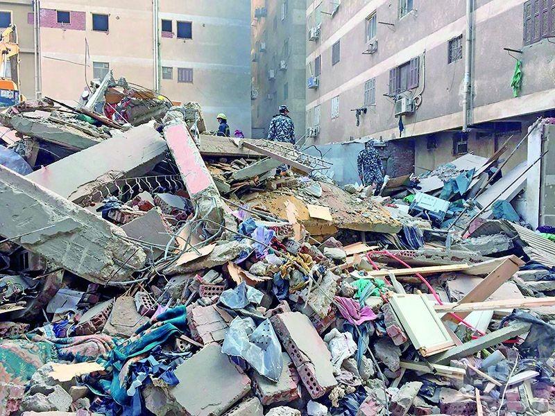 埃及開羅居民樓倒塌16死