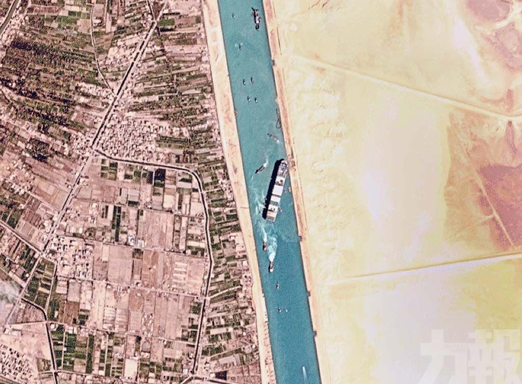 「長賜輪」成功脫困 蘇彝士運河危機解除