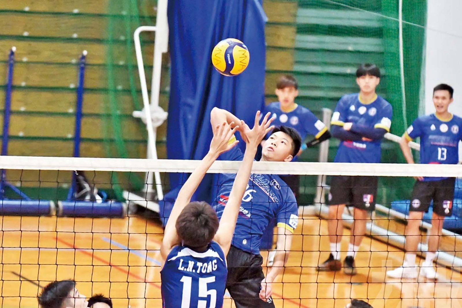 慈青男甲排球聯賽直落3局贏紅藍嵐