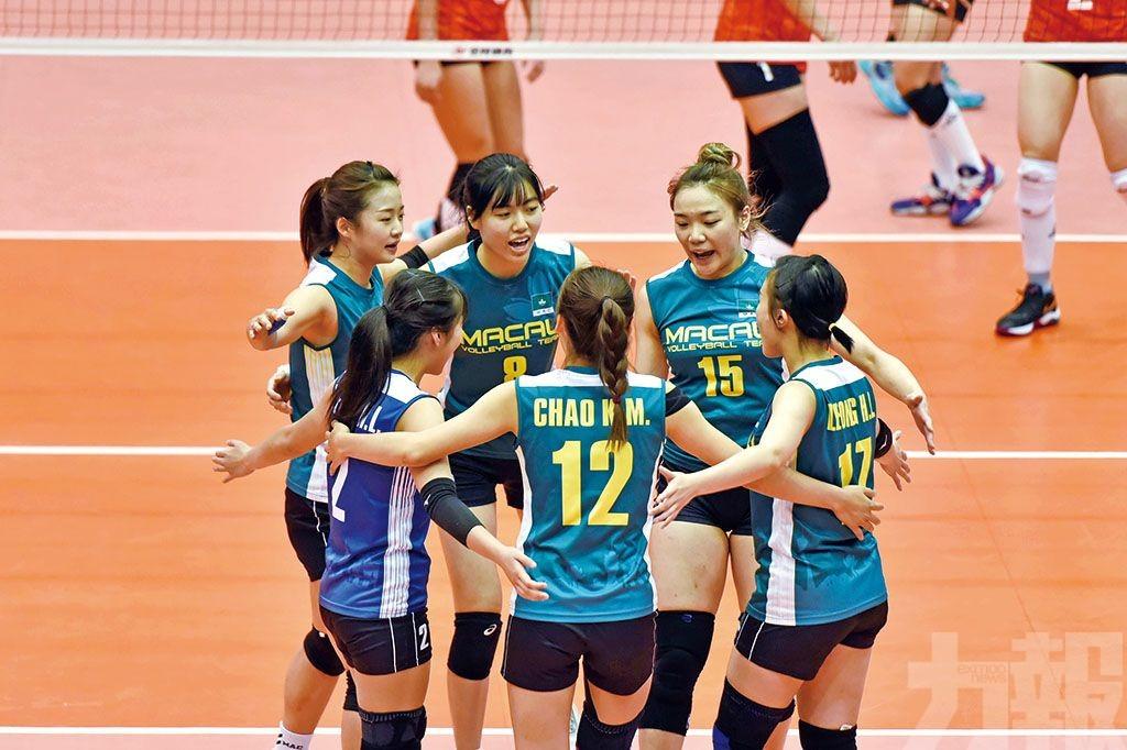 澳門女排完成全運會資格賽賽事