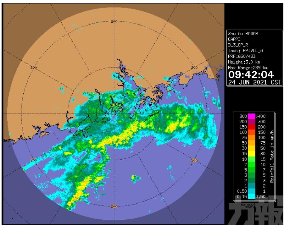 氣象局料未來2小時雨勢增強