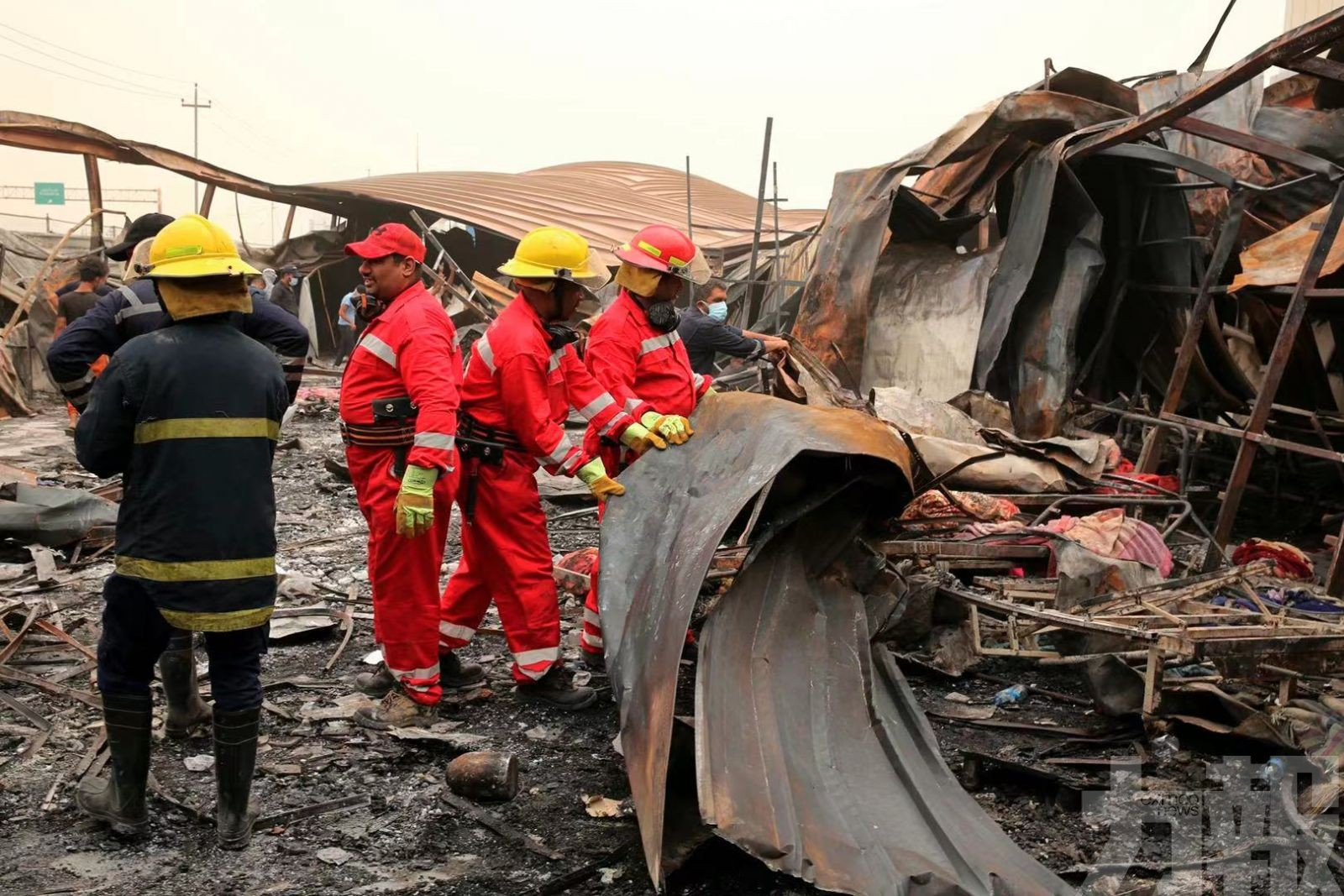 伊拉克收治染疫者醫院大火