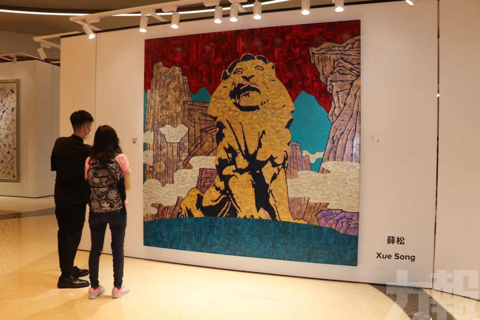 以「甦醒之獅」為題展現當代藝術
