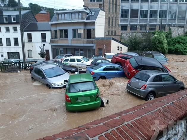 比利時南部再現洪水