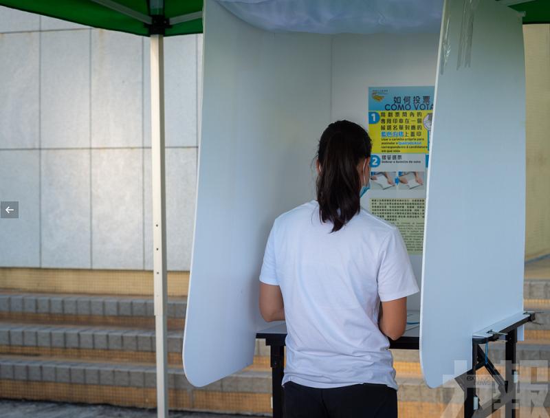 選管會設疫情防控區流動投票站舉行演習